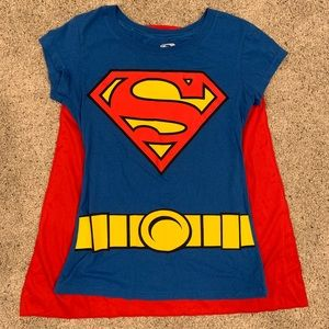Superman shirt with Velcro cape
